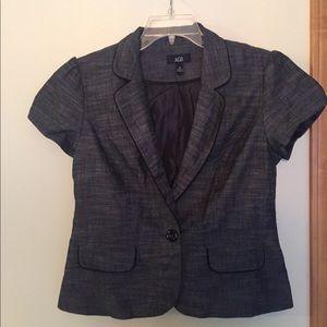 Charcoal Gray Short Sleeve Blazer 12